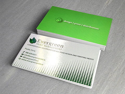 Evergreen print evergreen print print design in cork business cards reheart Images